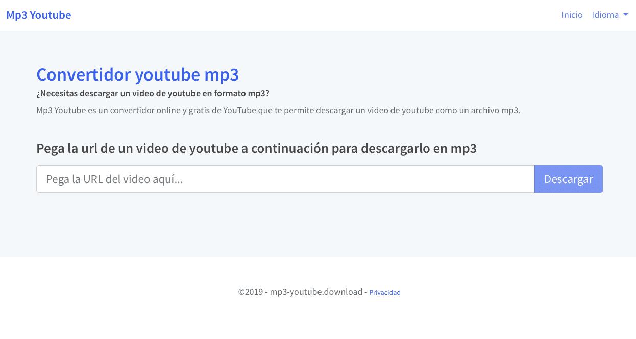 convertidor de youtube a mp3 descargar gratis online
